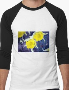 Daffodils - Bright Men's Baseball ¾ T-Shirt