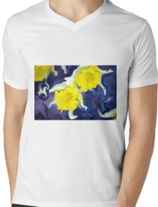 Daffodils - Bright Mens V-Neck T-Shirt