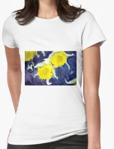 Daffodils - Bright Womens Fitted T-Shirt