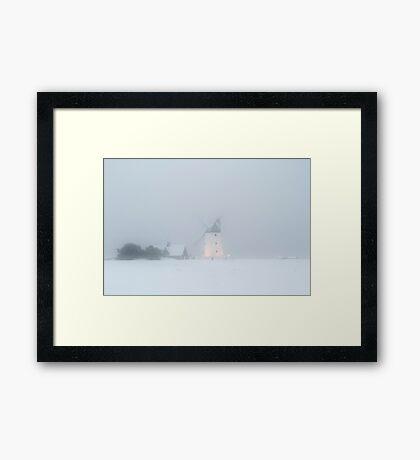 Lytham Windmill in Snow Framed Print