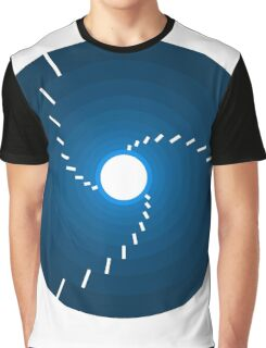 Circles - Blue Graphic T-Shirt