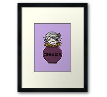 Undertaker eating cookies Framed Print