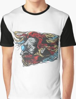 Painted Beard Graphic T-Shirt