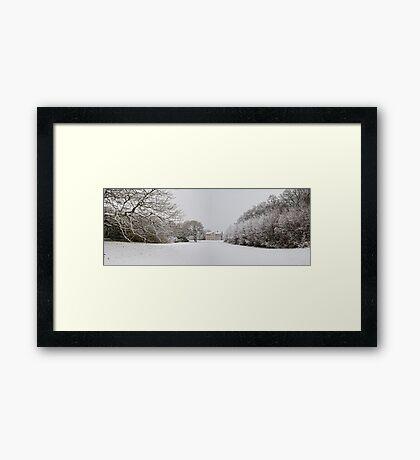 Lytham Hall Winter Framed Print