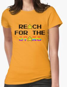 """Reach For The Stars"" 8 Bit Parody Womens Fitted T-Shirt"