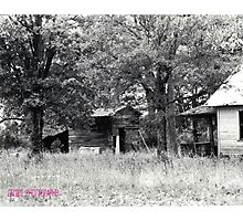 Abandoned Barn and House Photographic Print