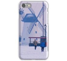 Lytham Windmill In Winter iPhone Case/Skin