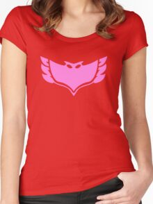 PJ Masks - Owlette Crest Women's Fitted Scoop T-Shirt