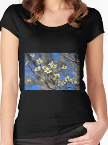 Dogwood In Bloom Women's Fitted Scoop T-Shirt