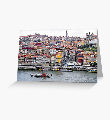 The Porto skyline by the River Douro Greeting Card