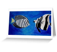 Ocean Fishes Acrylic Painting Greeting Card
