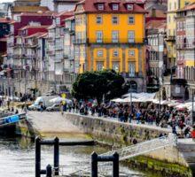 The Porto skyline by the River Douro Sticker