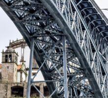 Ponte Luis I over the River Douro in Porto, Portugal Sticker