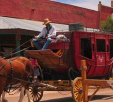 Stagecoach in Tombstone  Sticker
