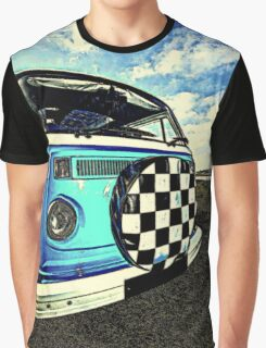 Chequered Blue Graphic T-Shirt