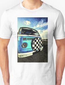 Chequered Blue Unisex T-Shirt