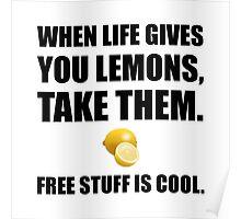 Free Lemons Poster