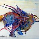 Feathery Wolf by AmitArt