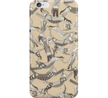 cat party beige natural iPhone Case/Skin