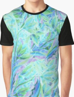 Cold abstract floral elements Graphic T-Shirt