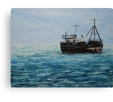 Blue Seascape (Oil Painting) Canvas Print