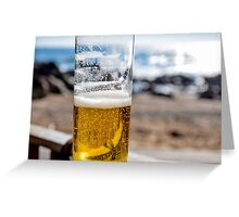 Beer on the beach, Porto Greeting Card