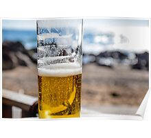 Beer on the beach, Porto Poster