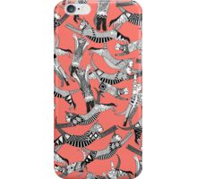 cat party blush coral iPhone Case/Skin