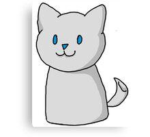 Marshmallow Kitty Canvas Print