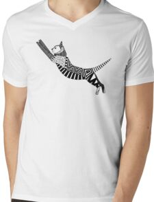 cat party black white Mens V-Neck T-Shirt