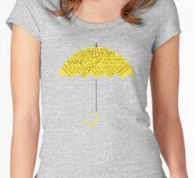 How I Met Your Mother - Yellow Umbrella  Women's Fitted Scoop T-Shirt