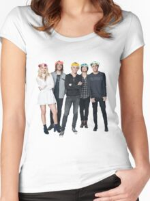 R5 Flower Crown Group Shot Women's Fitted Scoop T-Shirt