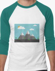 Cartoon landscape Men's Baseball ¾ T-Shirt