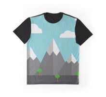 Cartoon landscape Graphic T-Shirt