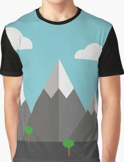 Cartoon landscape Graphic T-Shirt