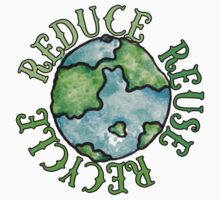 Reduce Reuse Recycle Earth Day One Piece - Long Sleeve