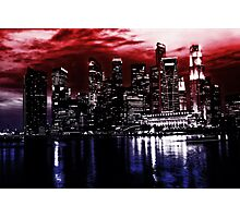 Singapore by night Photographic Print