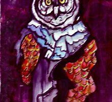 Owl Wizard/ Original work by Amit Grubstein by AmitArt