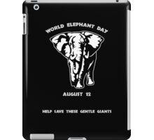 World Elephant Day -- August 12 iPad Case/Skin