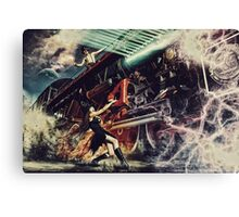 The witch and the time machine Canvas Print