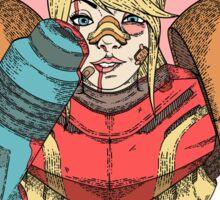 Fight Like A Girl - Samus Aran (Metroit) Sticker