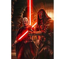 Darth Revan And Darth Malak Photographic Print