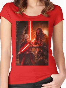 Darth Revan And Darth Malak Women's Fitted Scoop T-Shirt