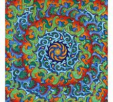 Tsunami Mandala (with background) Photographic Print