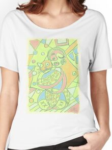 Cubism girl and cat Women's Relaxed Fit T-Shirt