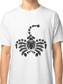 Black abstract scoprion Classic T-Shirt