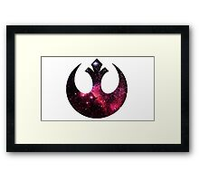 Rebel Alliance space logo Framed Print