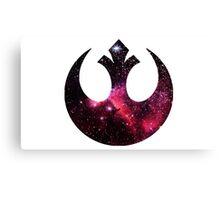 Rebel Alliance space logo Canvas Print