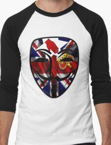 Anonymous Mask| Guy Fawkes  Men's Baseball ¾ T-Shirt
