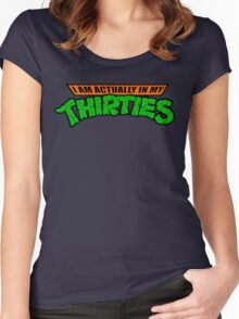 Teenage Mutant Ninja Thirties HARDCORE  Women's Fitted Scoop T-Shirt